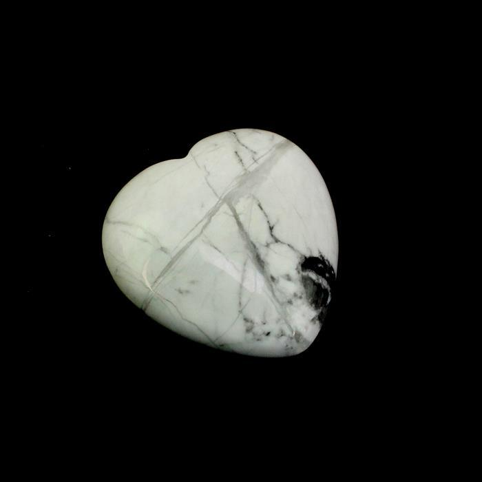 50cts White Magnesite Heart Cabochon Approx 34x34mm