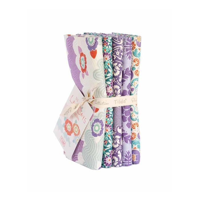 Tilda Lazy Days Lilac Fat Quarter Bundle 5 Pieces