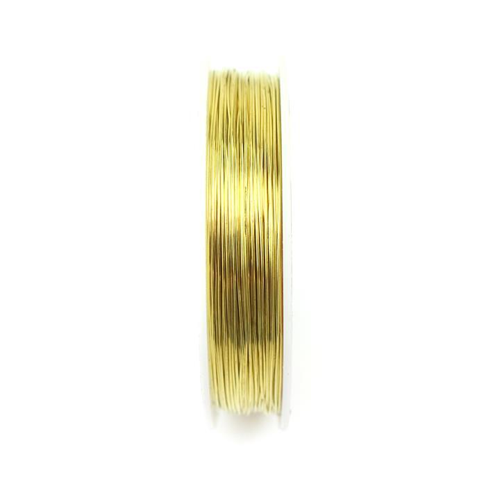 50m Gold Plated Copper Wire Approx 0.6mm