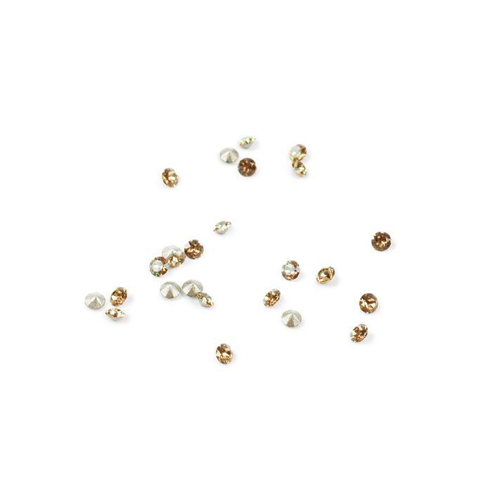 Light Colorado Topaz 1088 Swarovski Round Stones - 2mm, 24pk