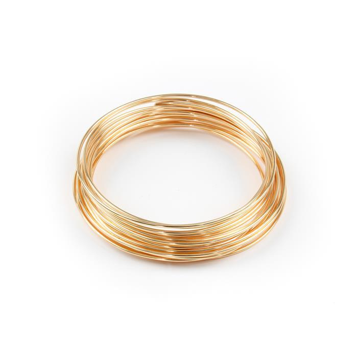Champagne Gold Coloured Silver Plated Copper Wire - 1.0mm (4m)