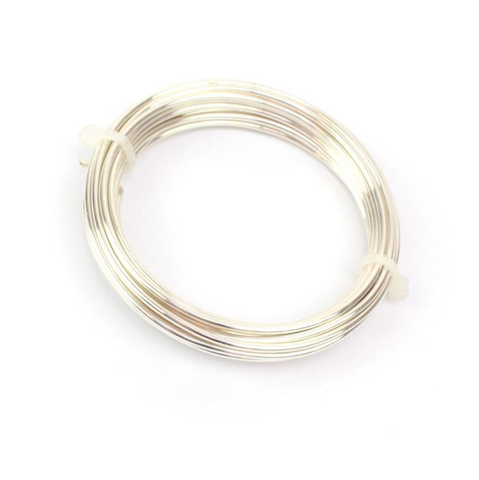 Artistic Wire, 12 Gauge (2.0 mm), Silver Plated, Tarnish Resistant Silver, 10 ft (3 m) Length