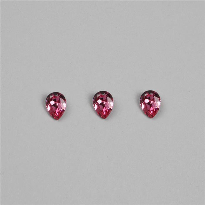 Rose Swarovski Pears 8x6mm 4320 3pk