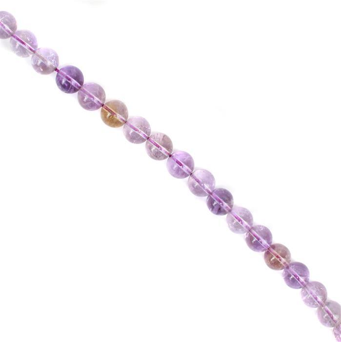 250cts Light Amethyst Plain Rounds 10mm 38cm strand