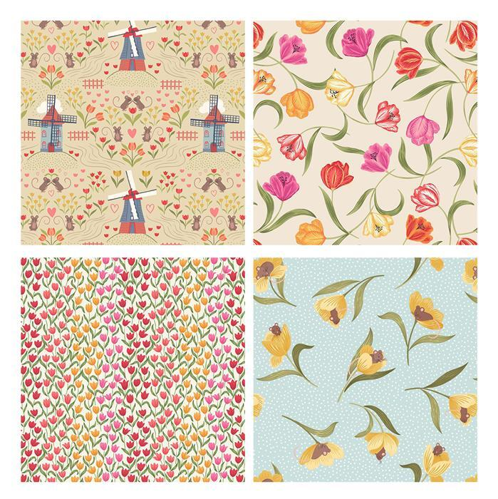 Lewis & Irene Tulip Fields Fabric Bundle (2m)