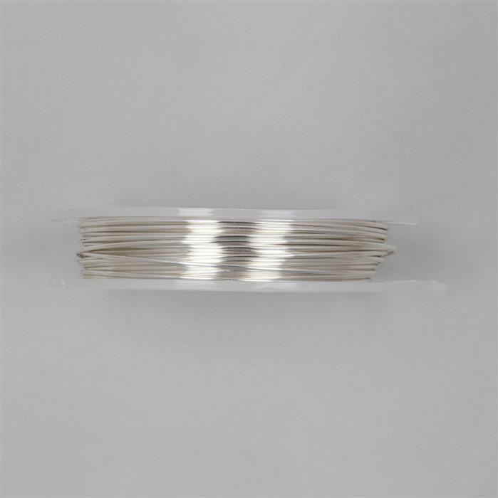 10m Silver Plated Copper Wire Approx 1.25mm