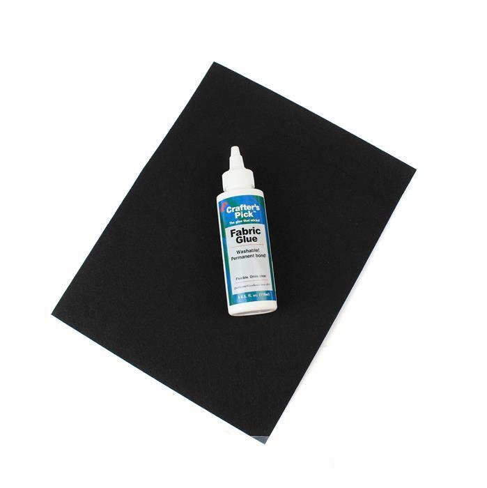 Essentials; Crafters Pick Fabric Glue (4oz)&Large Black Beading Foundation 8.5x11