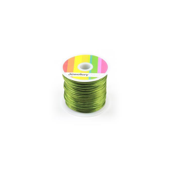 10m Dark Green Satin Cord, 1mm