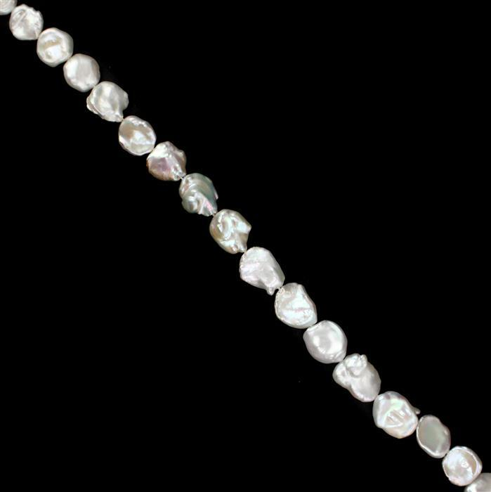 White Freshwater Baroque Pearls from Approx 18x12 to 23x15mm, 38cm Strand
