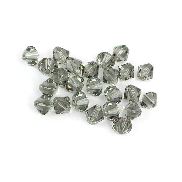 Swarovski Black Diamond Bicones 5328 8mm - 24pk