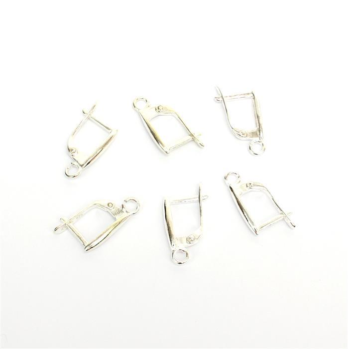 925 Sterling Silver Vertical Drop Lever Back Earrings Approx 19x8mm(3pairs)