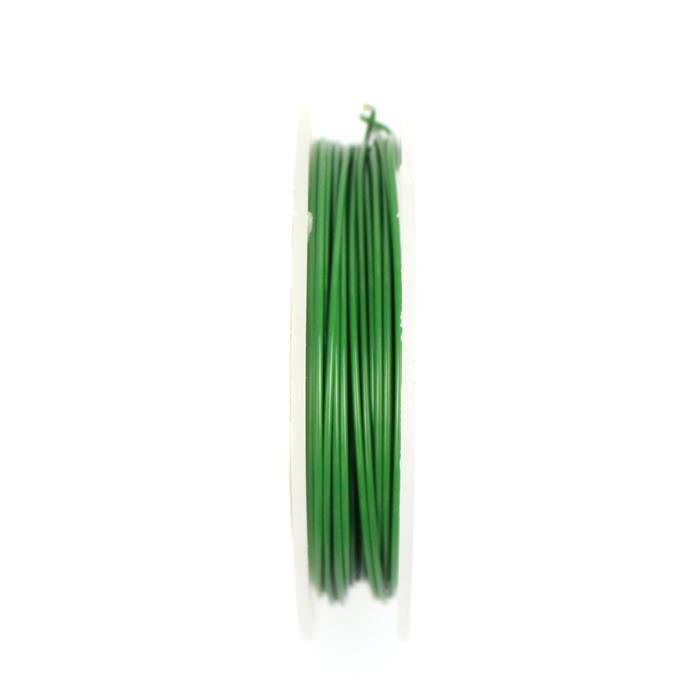 10m Dark Forest Green Coloured Copper Wire 1.25mm