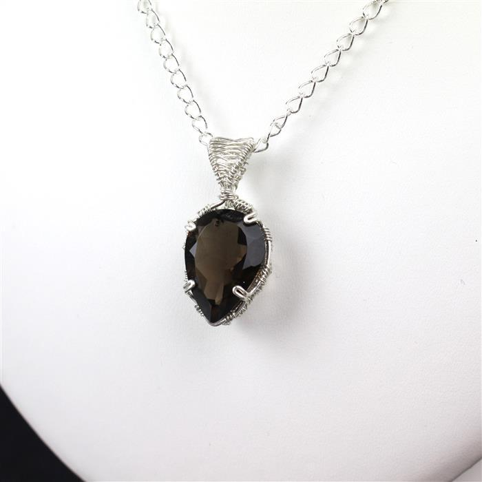 Smoke on the Water; 90cts Smokey Quartz Multi Shape Faceted stones & Sterling Silver Wire