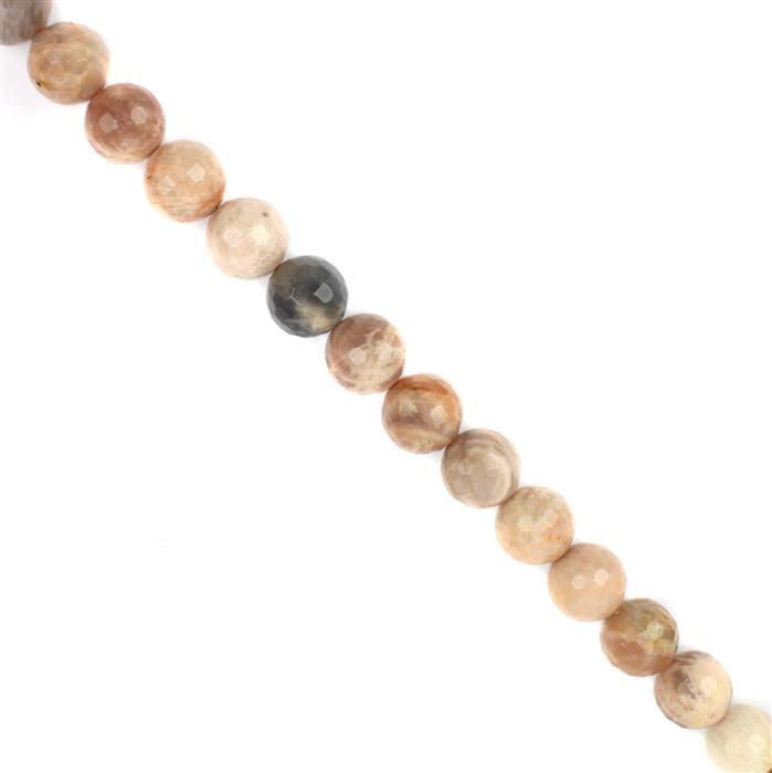 790cts Sunlight Feldspar Faceted Rounds Approx 18mm, 38cm strand