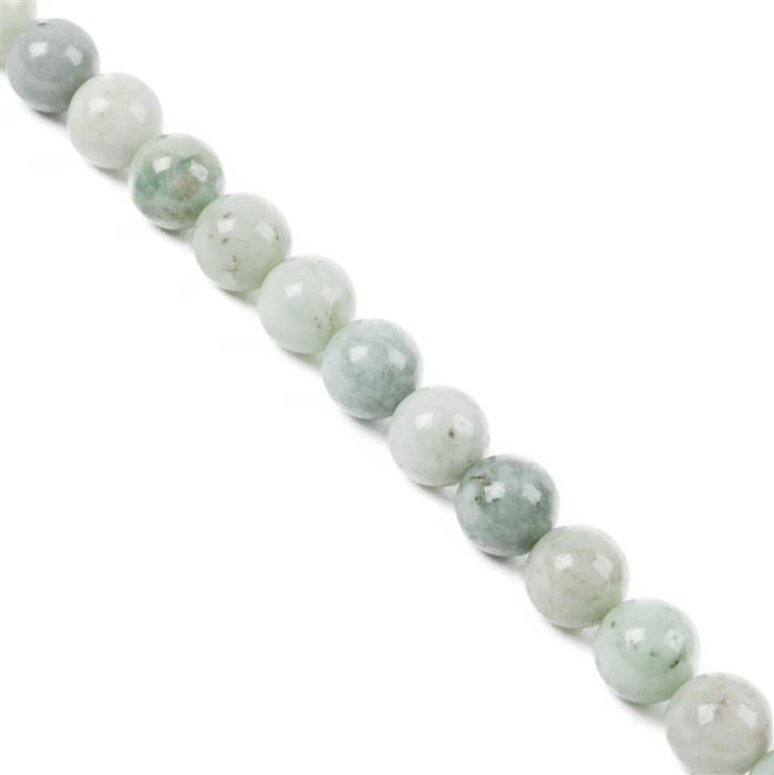 180cts Burmese Jadeite Plain Rounds Approx 8mm, 38cm strand
