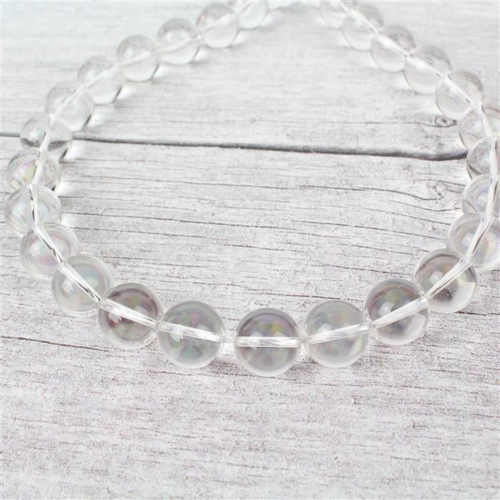 540cts Clear Quartz Plain Rounds Approx 14mm, Approx 38cm strand