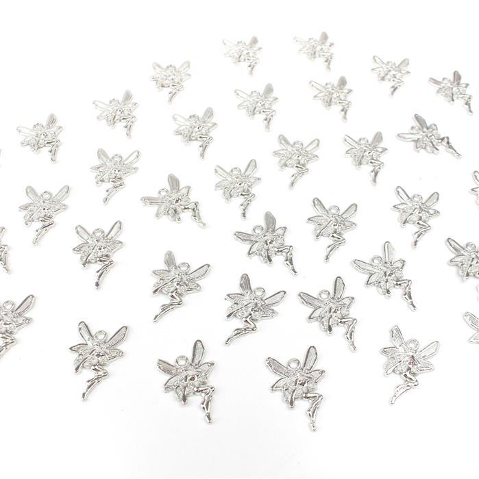 Silver Colour Fairy Charms Approx 15x22mm 50pcs/pack