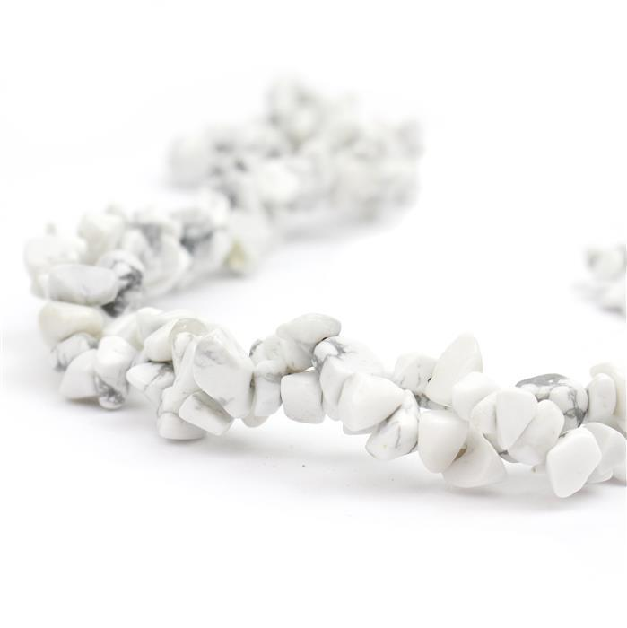 310cts White Howlite Small Nuggets Approx 4x6 to 6x11mm, 82-86cm strand