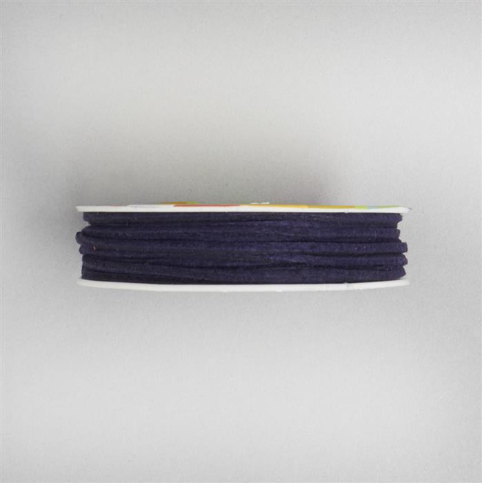 5m Aubergine Suedette Cord Approx 1.4 x 1.8mm