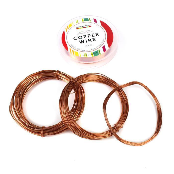 75m Bare Copper Wire Bundle! inc; 0.4mm, 1mm, & 2mm
