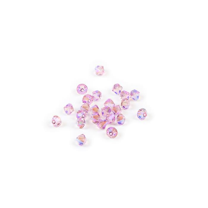 Swarovski Crystal Beads - Pack of 24 Bicone 5328- 4mm Light Amethyst Shimmer 2x