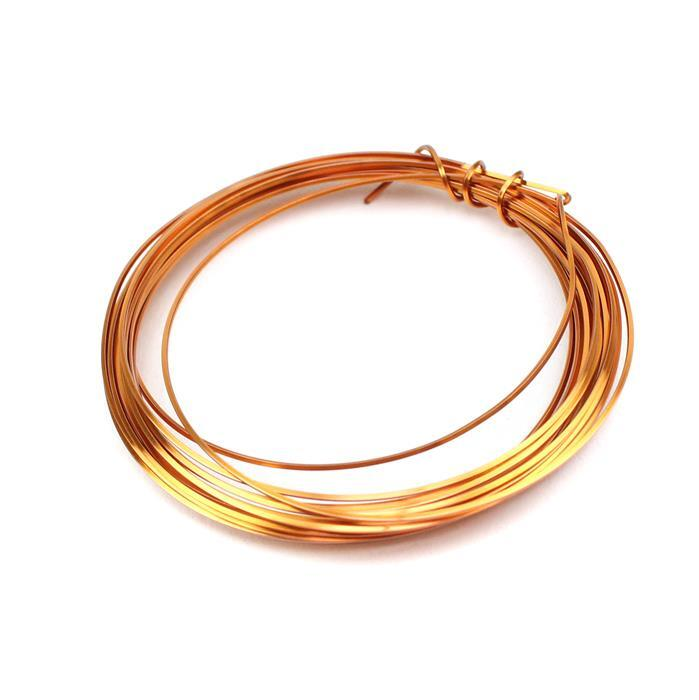 Copper Coloured Copper Square Wire - 0.6mm (3m)