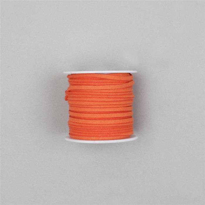 5m Orange Suedette Cord Approx 1.4x2.5mm