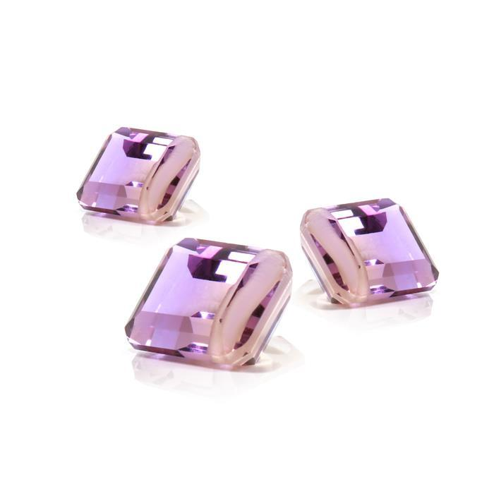 Allure Collection. 5cts Ametrine Rectangles Approx 10x8mm 3pcs