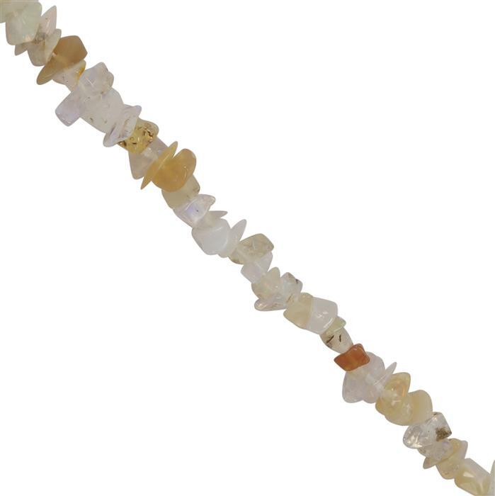 60cts Ethiopian Opal Plain Nuggets Approx 5x1 to 3x3mm, 84cm Strand
