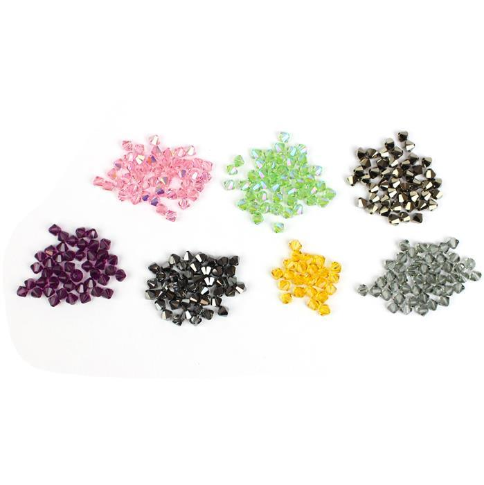 Bicone Bonanza Bundle; Inc 7 Varieties Of Swarovski Bicones