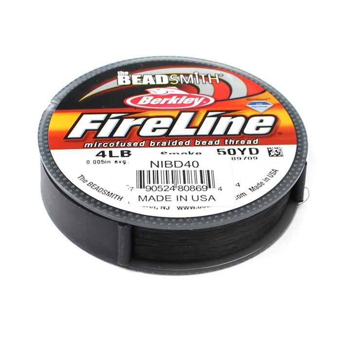 4lb Fireline Smoke Grey 0.005in/0.12mm Diameter 50Yrd