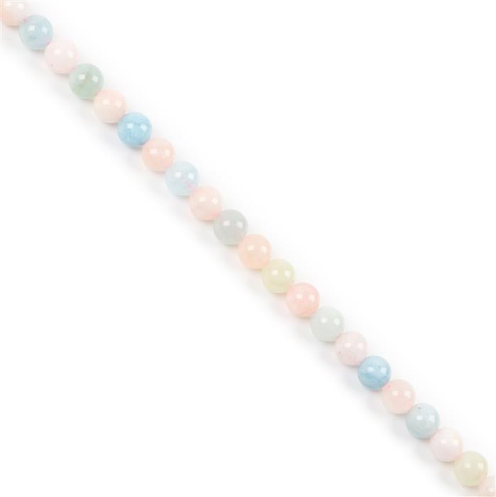 170cts Multi-Colour Beryl Plain Rounds Approx 8mm 38cm strand