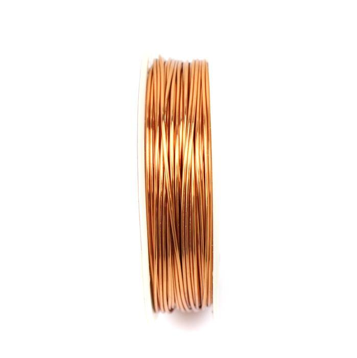 10m Rose Gold Coloured Copper Wire 0.8mm