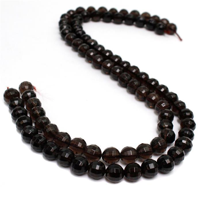 240cts Smokey Quartz Pumpkin Cut Rounds Approx 10mm  38cm strand
