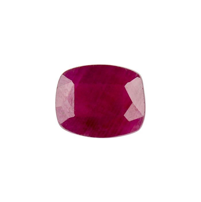 3.70cts Ruby Fancy Cut Cushion Approx 10x8mm.