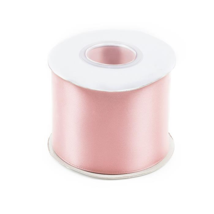 20m Light Pink Double Faced Satin Width Approx 75mm