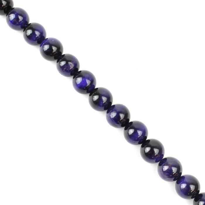 270cts Purple Tigers Eye Plain Rounds Approx 10mm 38cm strand