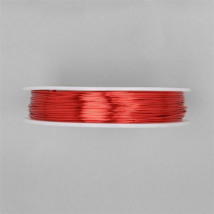 50m Hot Red Coloured Copper Wire Approx 0.60mm