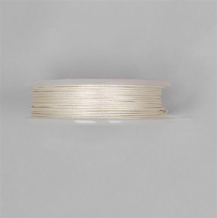 10m Silver Plated Patterned Wire 0.80mm