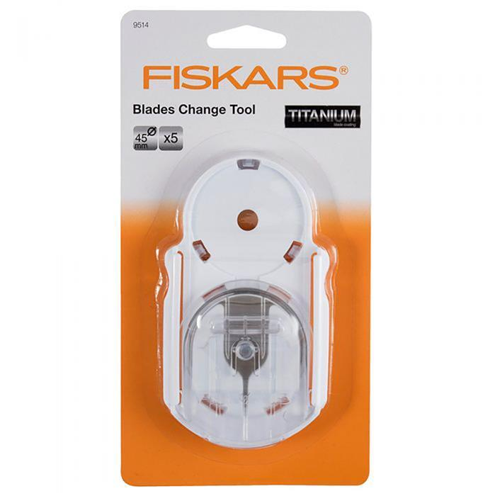 Fiskars No-Touch Blade Changing Tool & 5 x 45mm Blades