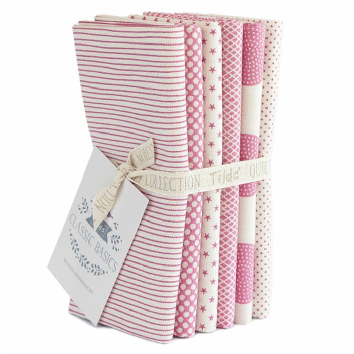 Tilda Classic Basics Pink Fat Quarter Bundle 6 Pieces
