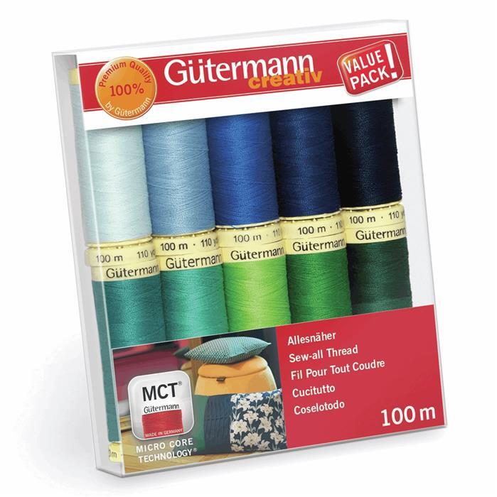 Early Bird Special - Gutermann Sew-All Thread Set Assorted Colours Pack2 10 x 100m. Special Price
