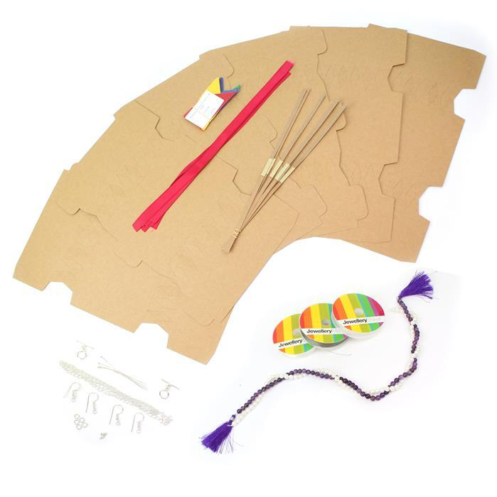 Make Your Own Christmas Kit! Inc; Amethyst, Shell Pearl and Essential Threading & Findings.