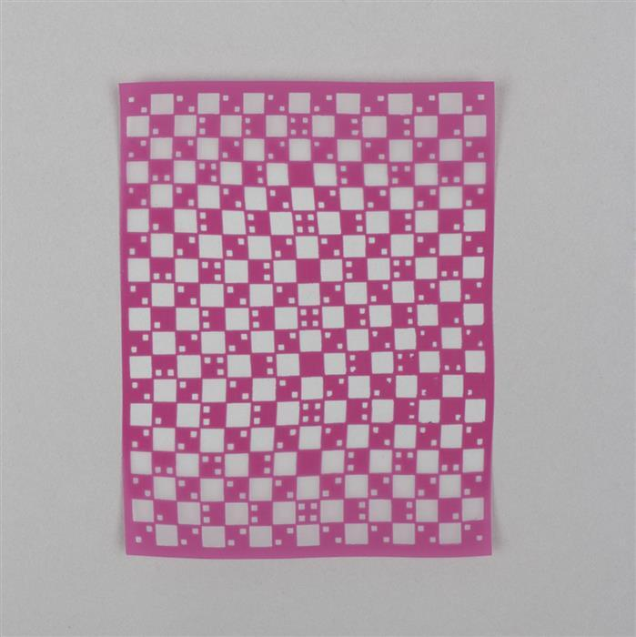Silk Screen - Checked Pattern Approx 4x5