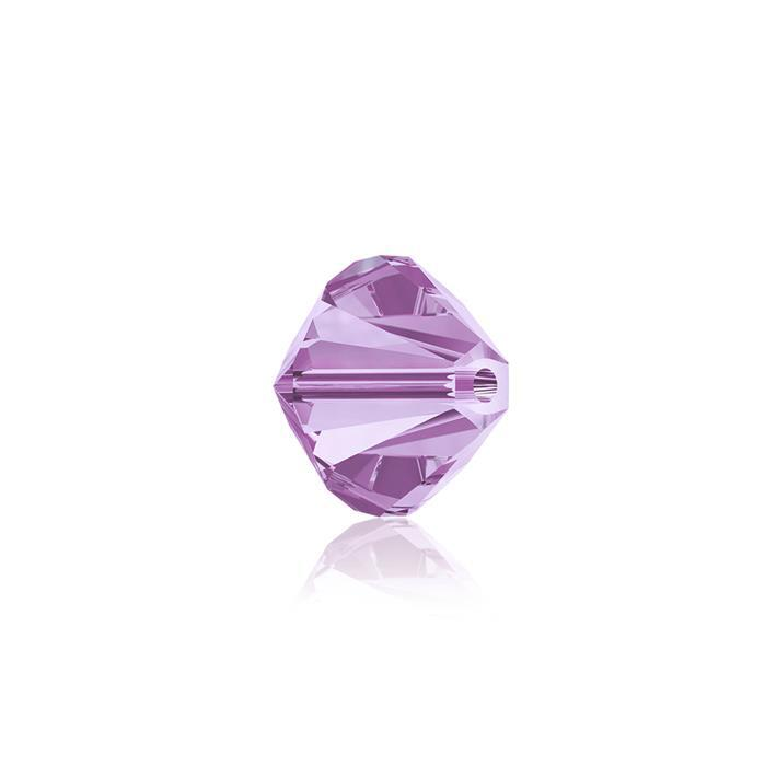 Swarovski Crystal Beads - Pack of 24 Bicones 5328 - 6mm Violet