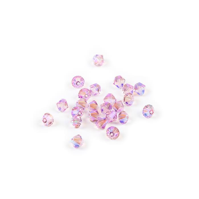 Swarovski Crystal Beads - Pack of 24 Bicone 5328 - 6mm Light Amethyst Shimmer 2x