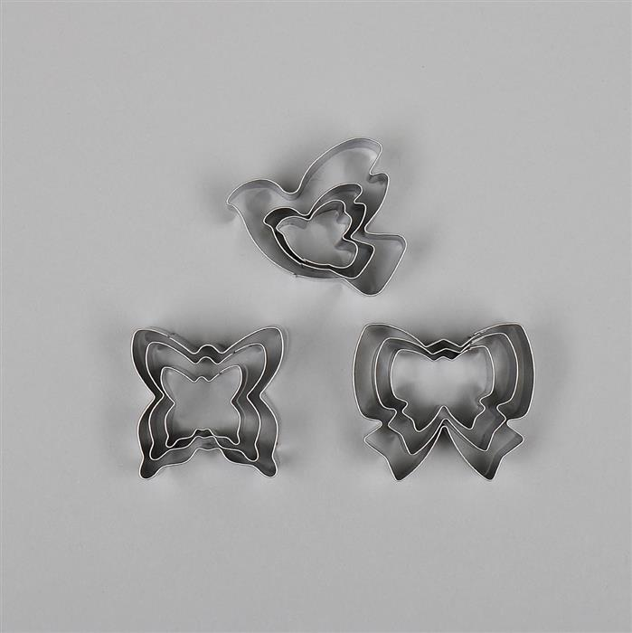 Pretty Cutter Set - Butterfly, Bow & Dove