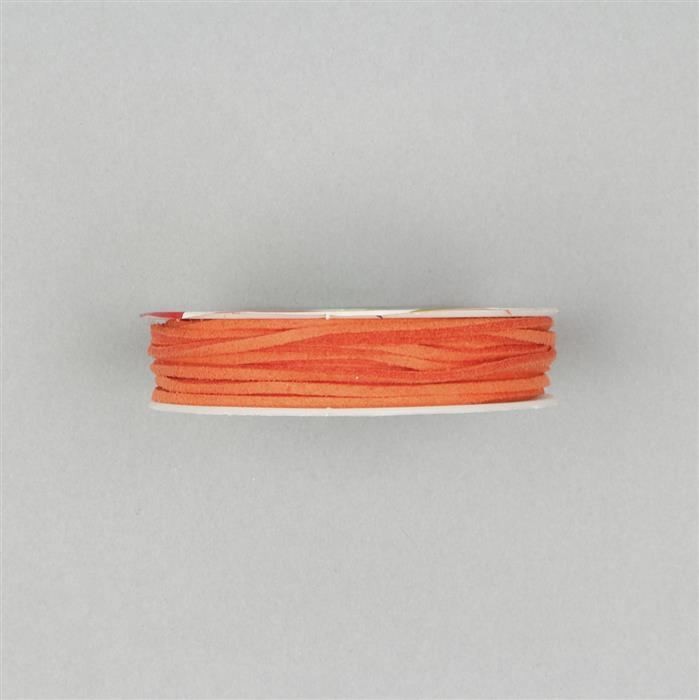 5m Orange Suedette Cord Approx 1.4x1.8mm