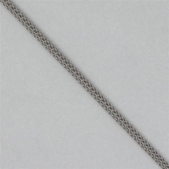 1m Grey Hollow Knit Wire 3mm