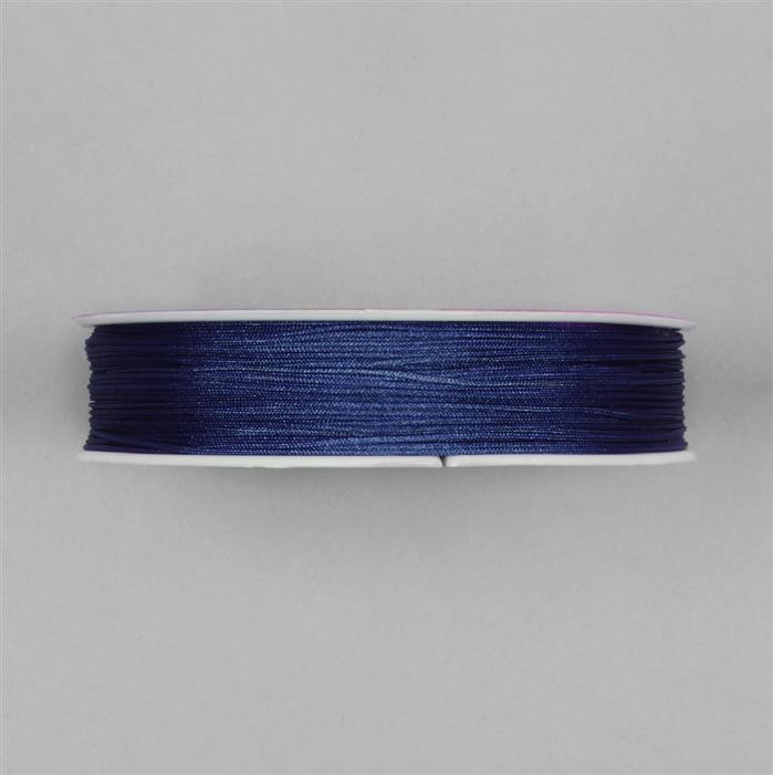 50m Blue Satin Cord Approx 0.5mm